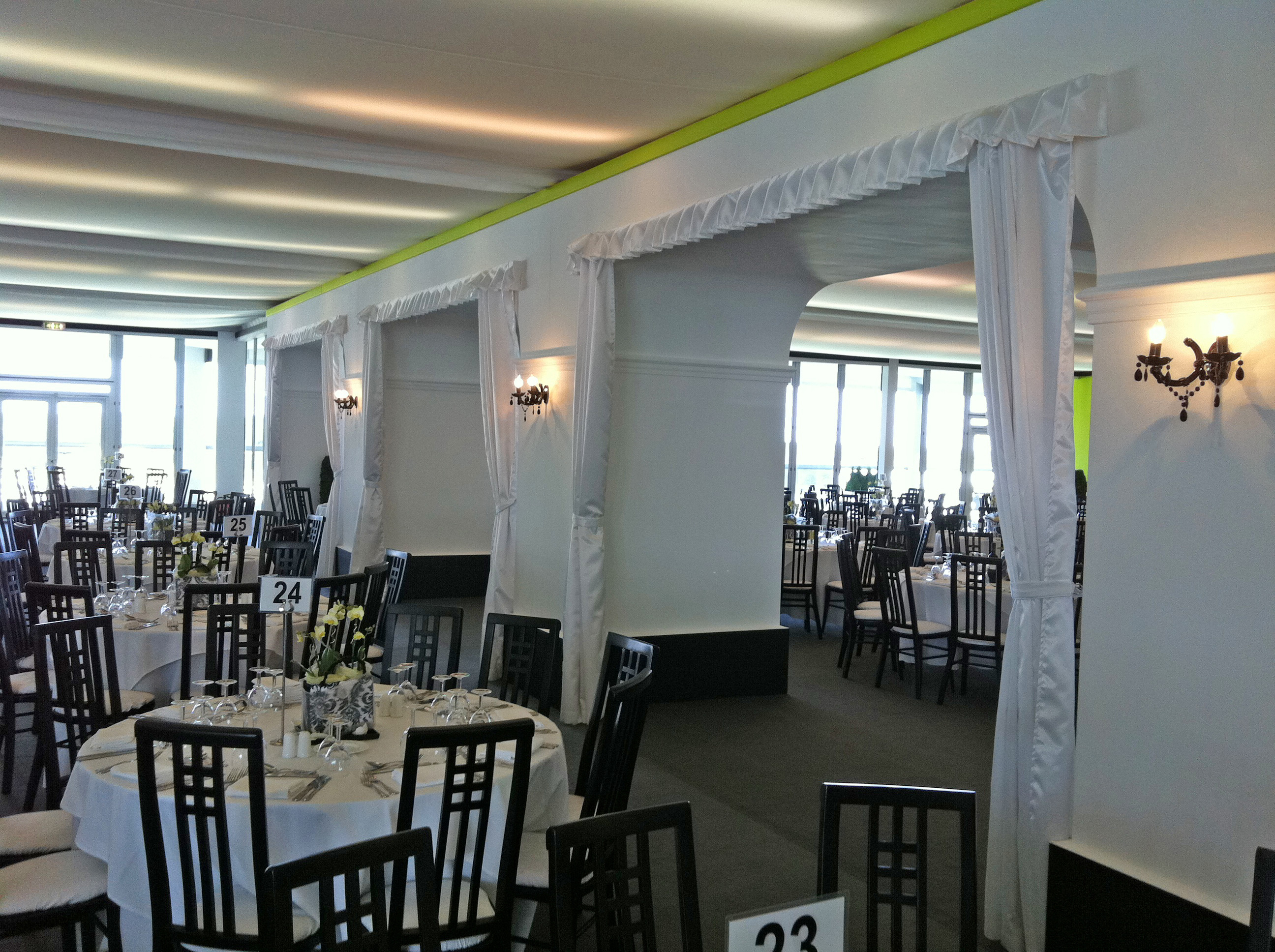 Trevira Satin Drapes at Ascot