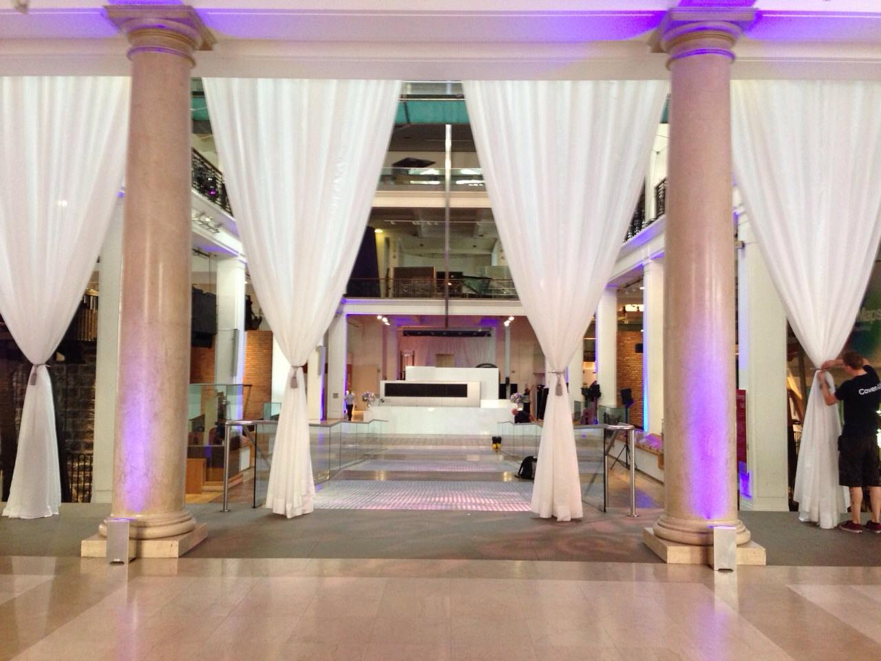 Pipe and drape sale and hire